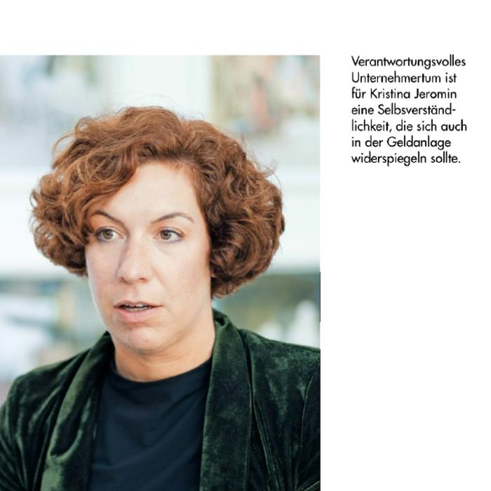 Screenshot des VERANTWORTUNG Magazin Portraits über Kristina Jeromin