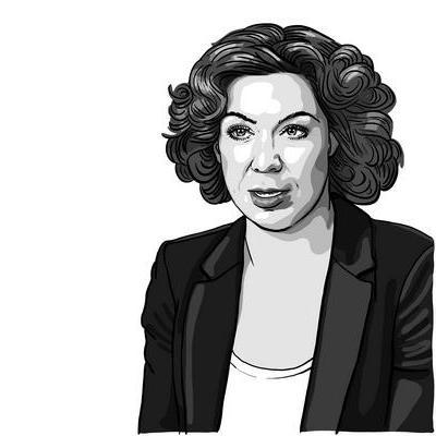 Portraitzeichnung Kristina Jeromin für The Reporting Times