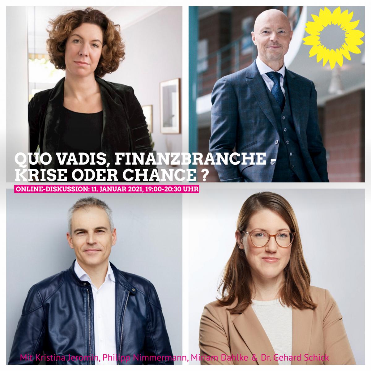 "Cover des Online Events ""Quo vadis Finanzbranche – Krise oder Chance?"