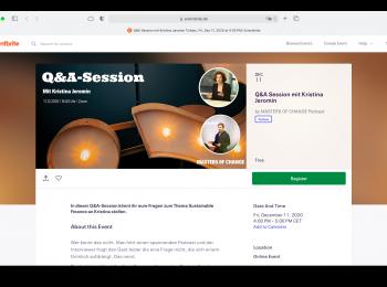 Screenshot Q-A-Session Masters of Change